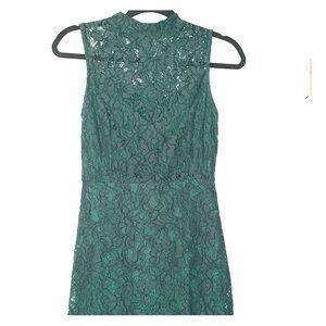 Fun& Flirty Green Cocktail Dress